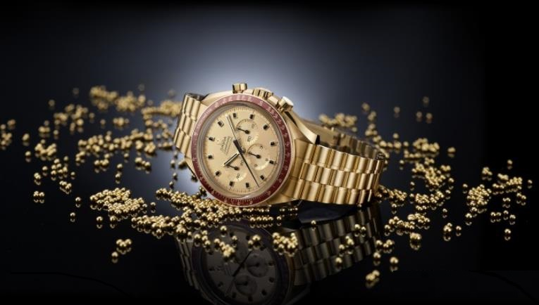 The luxury replica watches are made from MoonshineTM 18K gold.