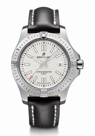 The silvery dials copy watches are designed for men.