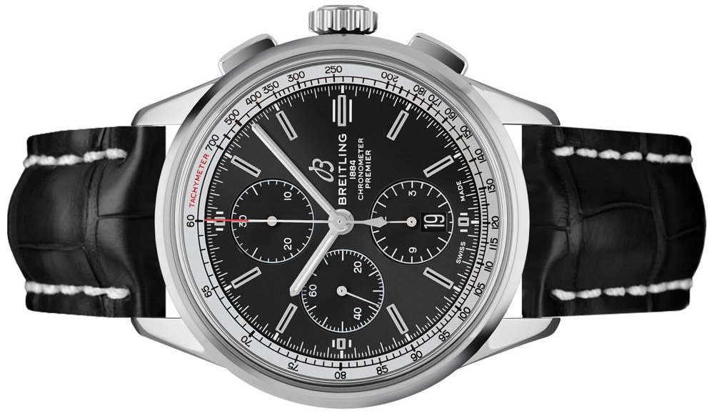 The black dials copy watches are designed for men.