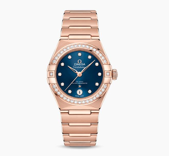 The female replica watches have midnight blue dials.