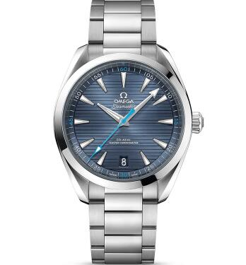 The blue Omega Seamaster is suitable for all the occasions.