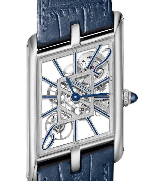 The skeleton dial allows the wearers to view the movement.